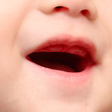 Baby mouth. Close up of baby mouth Stock Image