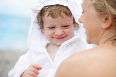 Baby with mum Stock Photography