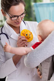 Baby with mum on medical appointment Royalty Free Stock Photography