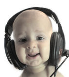 Baby and music royalty free stock photo