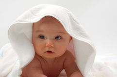 Baby na bad #11 Royalty-vrije Stock Fotografie