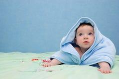 Baby na bad Royalty-vrije Stock Foto's