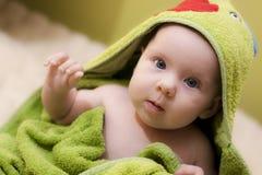 Baby na bad Stock Afbeelding