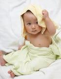 Baby na bad royalty-vrije stock foto