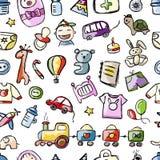 Baby naadloos patroon voor uw ontwerp Stock Fotografie