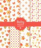 Baby naadloze patronen in pastelkleuren. Vectorse stock illustratie