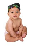 Baby in a nappy Royalty Free Stock Photo