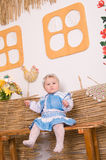 Baby in national  Ukrainian costume Stock Photo