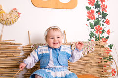 Baby in national  Ukrainian costume Royalty Free Stock Photo