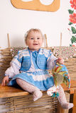 Baby in national  Ukrainian costume Royalty Free Stock Photos