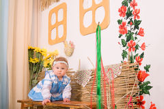 Baby in national  Ukrainian costume Royalty Free Stock Photography