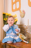 Baby in national  Ukrainian costume Stock Photography