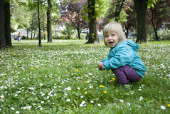 Baby and nature Royalty Free Stock Photo