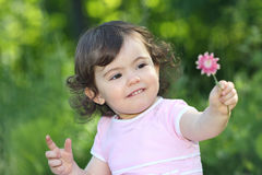 Baby in nature Stock Images