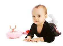 Baby near phone set Royalty Free Stock Image