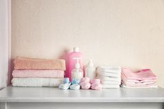Free Baby Necessities On White Chest Stock Photography - 105536052