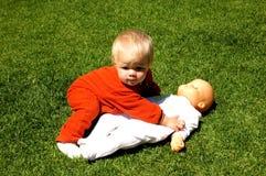 Baby needs help royalty free stock image