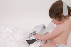 Baby Needs a Tissue royalty free stock image