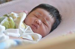 Baby new born. Sleep with nervous Royalty Free Stock Image