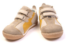 Baby new shoes Stock Photo