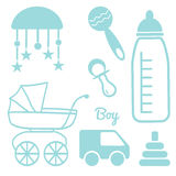 Baby and Newborn Set for a Boy Stock Images