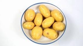 Baby Nieuwe Aardappels stock videobeelden