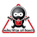 Baby Ninja on Board Royalty Free Stock Photography