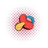 Baby nipple comics icon Royalty Free Stock Photography