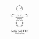Baby nipple vector line icon. Thin line flat design for web and mobile applications. Also can be used as logo, pictogram, infographic element Royalty Free Stock Photography