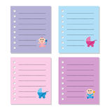Baby note paper Royalty Free Stock Photos