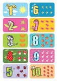 Baby numbers Royalty Free Stock Photography