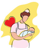 Baby nurse Stock Photo