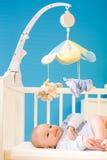 Baby at nursery stock photo