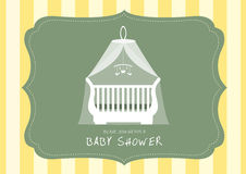 Baby Nursery with Crib ,Shower Cards,Vector illustrations Stock Photos