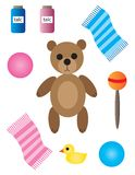 Baby and Nursery Items Royalty Free Stock Image