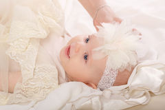 The baby in the nursery. Stock Photo