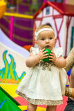 Baby in nursery Stock Image