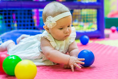 Baby in nursery royalty free stock images