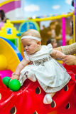 Baby in nursery Royalty Free Stock Photography