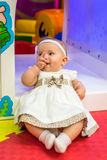 Baby in nursery Royalty Free Stock Image