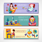 Baby Nutrition Banner Set Stock Image