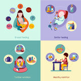 Baby Nutrition Set Stock Images