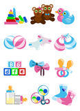 Baby object icons Stock Photography