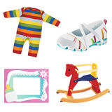 Baby objects 1 Royalty Free Stock Image