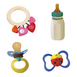 Baby objects 2 Royalty Free Stock Images