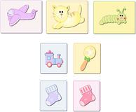 Baby objects royalty free stock photo