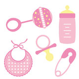 Baby objects Girl Stock Photo