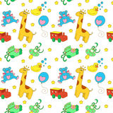 Baby objects seamless pattern Stock Image