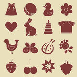 Baby objects set. Royalty Free Stock Image