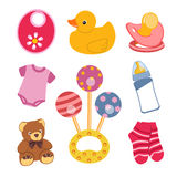 Baby objects Stock Image
